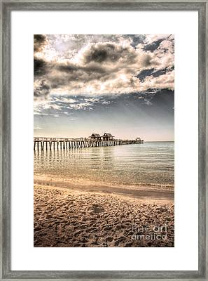 Naples Pier Framed Print by Margie Hurwich