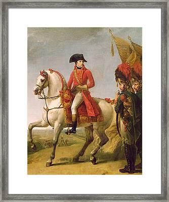 Napoleon Bonaparte Framed Print by Baron Antoine Jean Gros