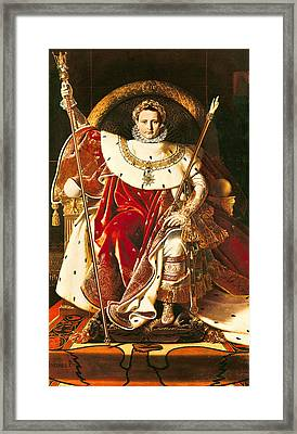 Napoleon I On The Imperial Throne Framed Print by Ingres