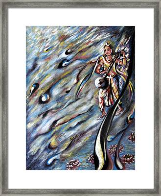 Narada Muni Framed Print by Harsh Malik