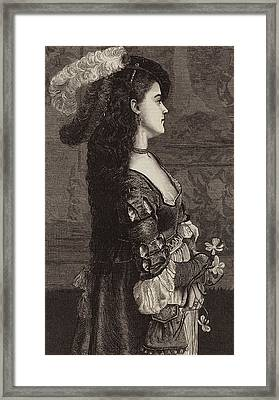 Narcissa Framed Print by Gustave Jacquet