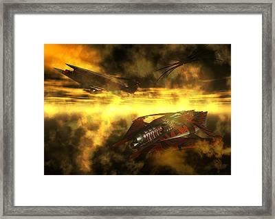 Narn In Hiding Framed Print by Joseph Soiza