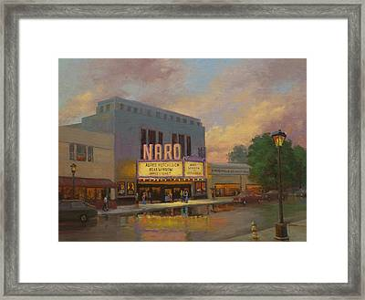 Naro Cinema Norfolk Va Framed Print by Marianne Kuhn