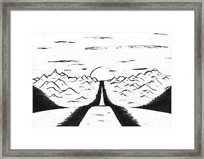 Narrow Gate Framed Print by Adam Wells