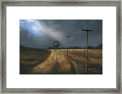 Narrow Is The Road Framed Print by Harold Shull