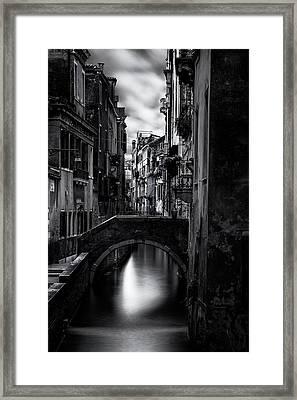 Narrow Venice Canal Framed Print by Andrew Soundarajan