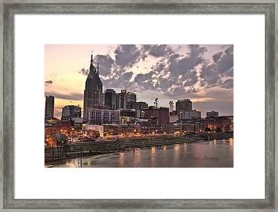 Nashville At Dusk Framed Print by Greg Davis