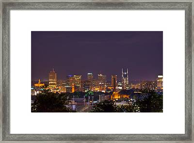 Nashville By Night 3 Framed Print by Douglas Barnett