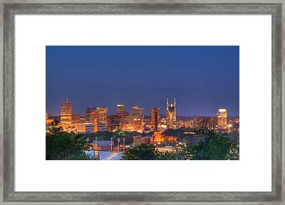 Nashville By Night Framed Print by Douglas Barnett