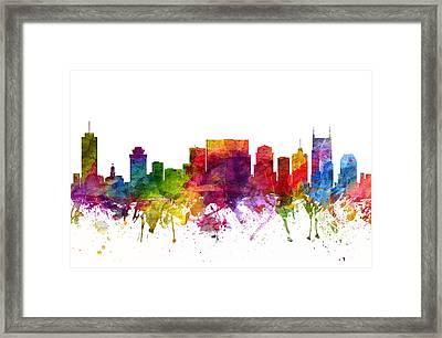 Nashville Cityscape 06 Framed Print by Aged Pixel