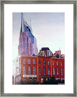 Nashville From River Framed Print by George Grace