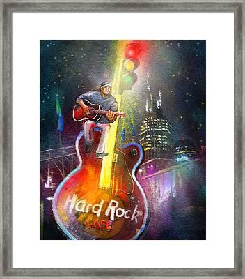 Nashville Nights 01 Framed Print by Miki De Goodaboom