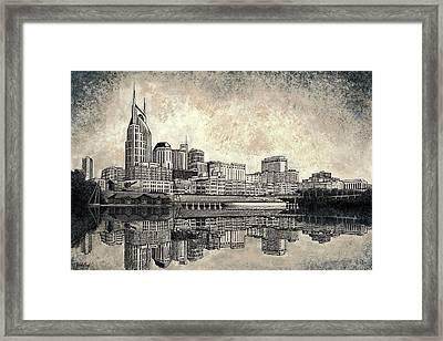 Nashville Skyline II Framed Print by Janet King