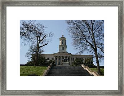 Nashville State Capital Building Framed Print by Betty-Anne McDonald