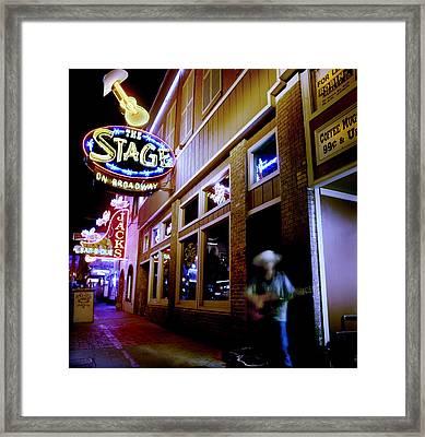 Nashville Street Musician Framed Print by Todd Fox