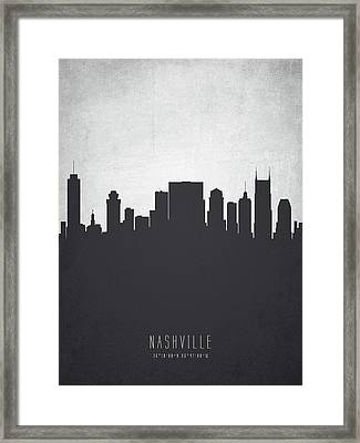 Nashville Tennessee Cityscape 19 Framed Print by Aged Pixel