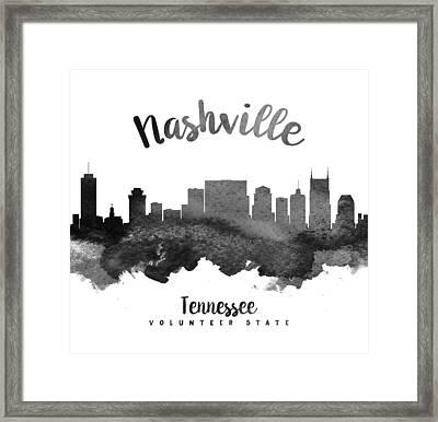 Nashville Tennessee Skyline 18 Framed Print by Aged Pixel