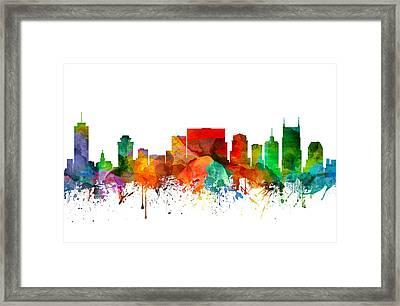 Nashville Tennessee Skyline 21 Framed Print by Aged Pixel