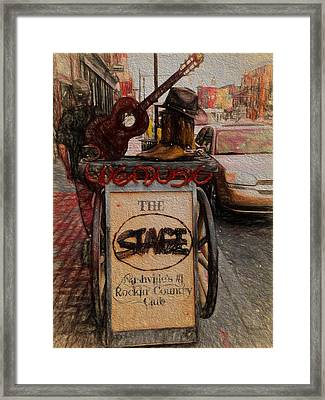 Nashville Tennessee The Stage Framed Print by Dan Sproul