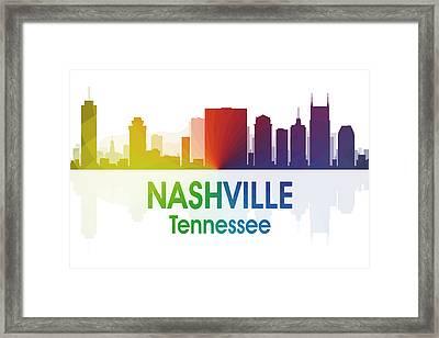Nashville Tn Framed Print by Angelina Vick