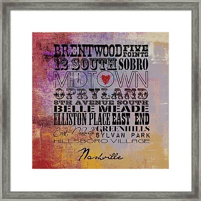 Nashville Tn V1 Framed Print by Brandi Fitzgerald