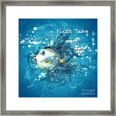 Naso Tang Fish Framed Print by Methune Hively