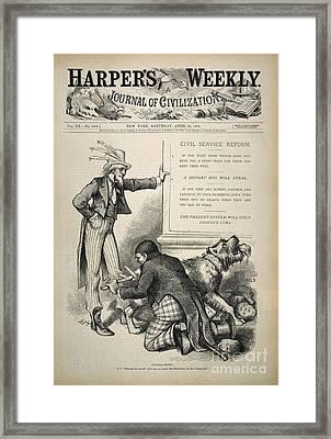 Nast: Civil Service Reform Framed Print by Granger