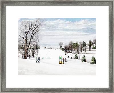 Nastar At Seven Springs Mountain Resort Framed Print by Albert Puskaric