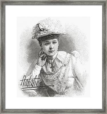 Natalia Janotha, Aged 20, 1856 Framed Print by Vintage Design Pics