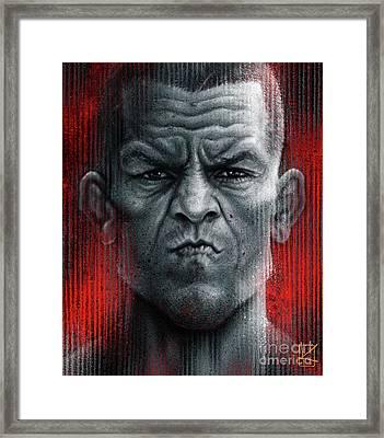 Nate Diaz Framed Print by Andre Koekemoer