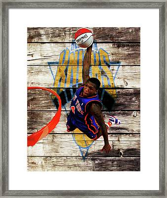 Nate Robinson 2c Framed Print by Brian Reaves