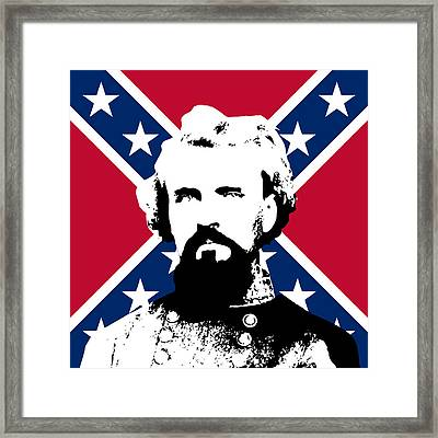 Nathan Bedford Forrest And The Rebel Flag Framed Print by War Is Hell Store