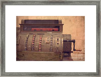National Cash Register Framed Print by Ella Kaye Dickey