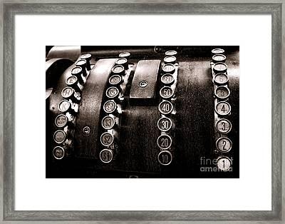 National Cash Register Framed Print by Olivier Le Queinec