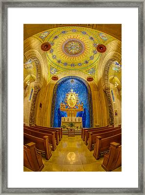 National Shrine Of The Immaculate Conception Chapel Framed Print by Susan Candelario