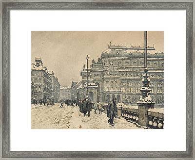 National Theatre In Winter Framed Print by MotionAge Designs