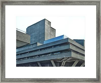 National Theatre London - Concrete Landscape Framed Print by Philip Openshaw