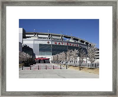 Nationals Park In Washington D.c. Framed Print by Brendan Reals