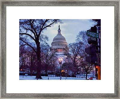 Nations Capitol Framed Print by Jimmy Ostgard