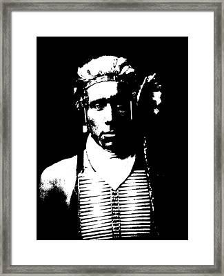 Native American 12 Curtis Framed Print by David Bridburg