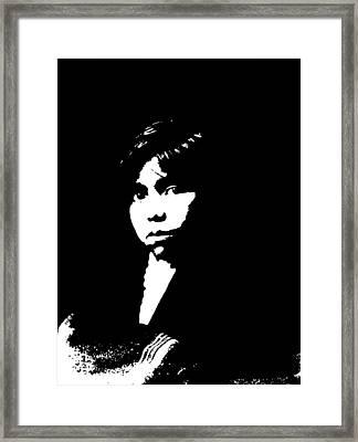 Native American 19 Curtis Framed Print by David Bridburg