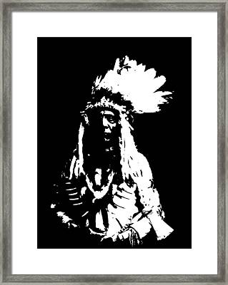 Native American 20 Curtis Framed Print by David Bridburg