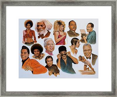 Native American And African American Framed Print by Curtis James