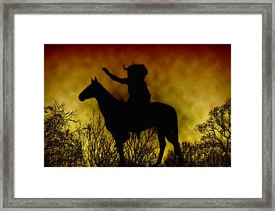 Native American Chief Framed Print by Bill Cannon