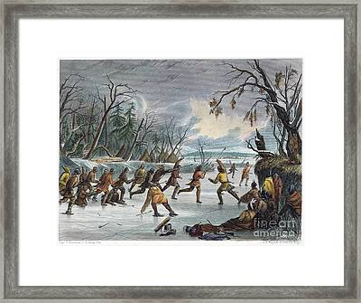 Native Americans: Ball Play, 1855 Framed Print by Granger