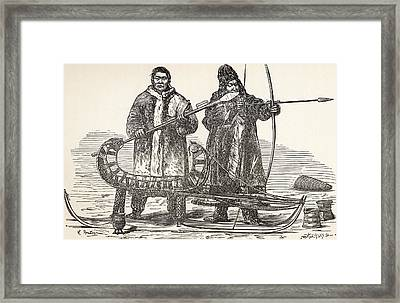 Native Buryats From The Buryat Framed Print by Vintage Design Pics