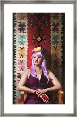 Native Daughter Modern Woman Framed Print by Anna Rose Bain