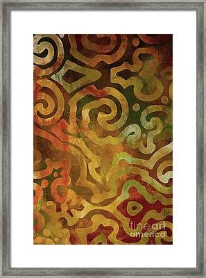 Native Elements Earth Tones Framed Print by Mindy Sommers