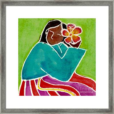 Native Girl Framed Print by Jessie Abrams Age Fifteen