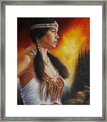 Native Pride Framed Print by Harvie Brown